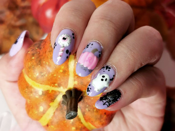 Nail art kawaii Halloween 2020