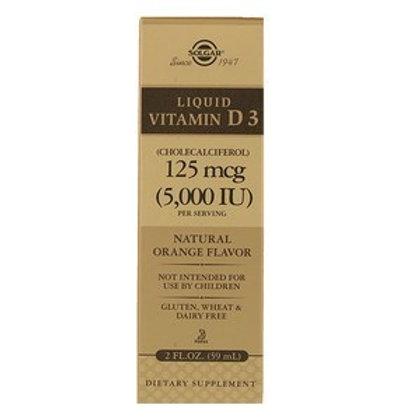 Liquid Vitamin D3 Natural Orange Flavor 5000 IU - 2 fl. oz