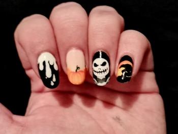 Nail art Halloween avec Mr Jack