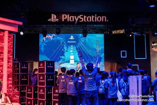 Sony Playstation booth at Taipei Game Show