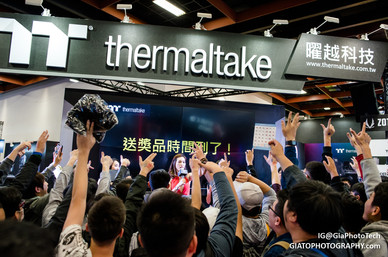 Thermaltake booth at Taipei Game Show