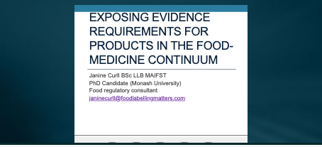 Evidence requirements for food health claims