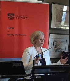 Dr Janine Curll presenting at a Food Governance Sydney University Conference 2016