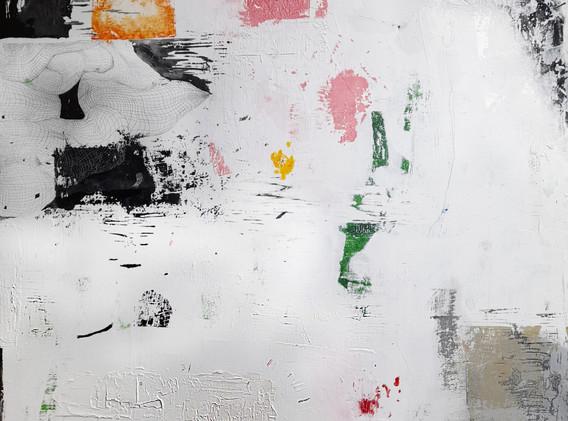 김도경, <얼룩진 주단과>, 116.8x91.0cm, Mixed Media on Canvas, 2020