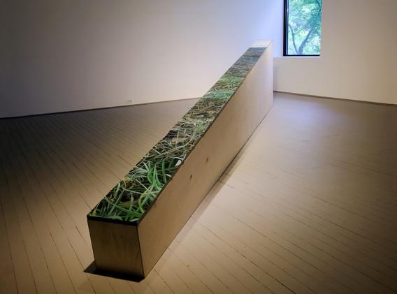 강민영, <겹>, 550*24cm, oil on canvas, installation, 2018