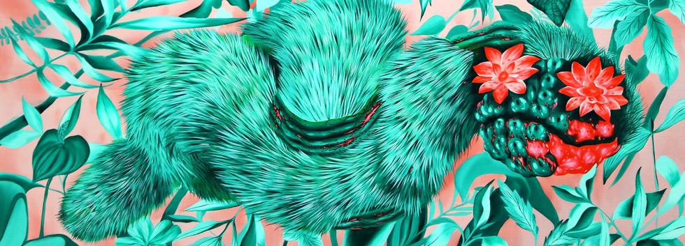 김영래, <따뜻한가시1>, 45*91cm, oil on canvas, 2018