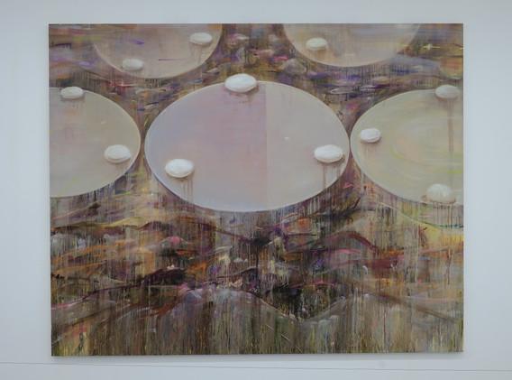 신준민, <White Stone>, 181*227cm, oil on canvas, 2018