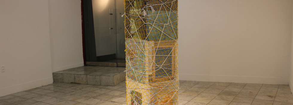 이민주, 꽃 탑, Mixed media, Variable installation, 2020