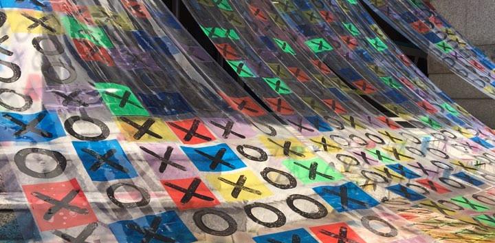 신주현, <XOX>, mixed media, variable installation, 2018