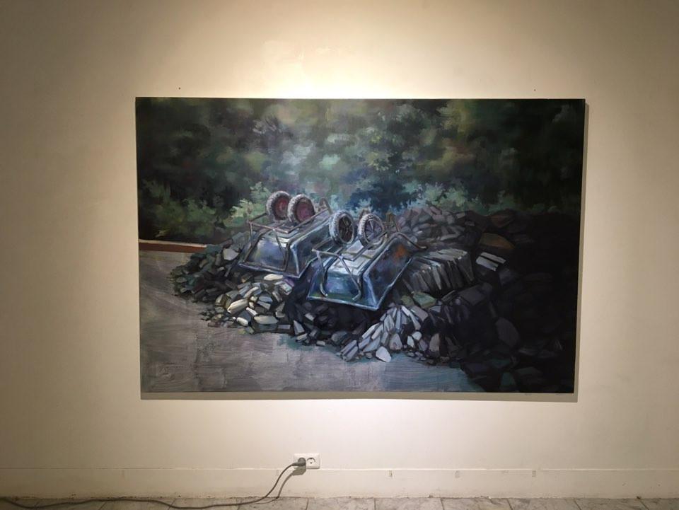 전규송, <Between A06 and A07>, 112.1*193.9cm, oil on canvas, 2019