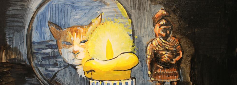 이민주, 수호신 추풍이, Acrylic on canvas, 90.9x72.7cm, 2019