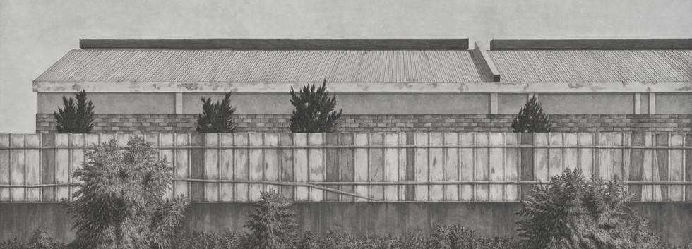이채영, <15시>, 90*162cm, 한지에 먹, 2014