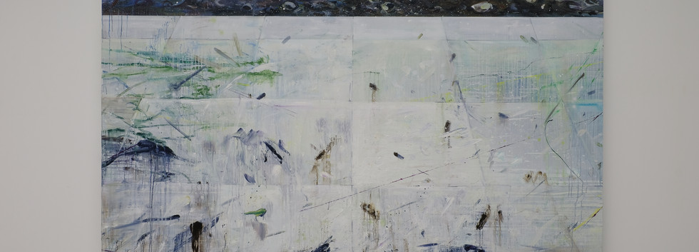 신준민, <White River>, 181*227cm, oil on canvas, 2018