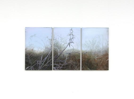 강민영, <겹>, 100.2*45.5cm, oil on canvas, 2018