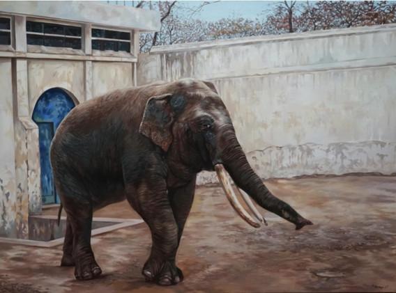 이재규, <Life1>, 162.2*97cm, Oil on canvas, 2017