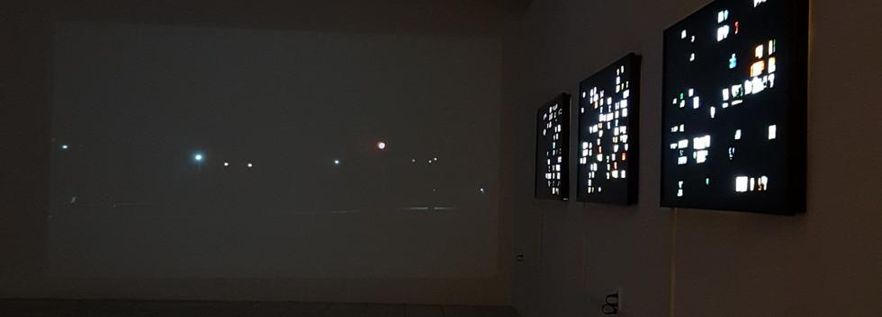 류은미 <The road>, Single channel video, 3min 20sec, 2019 <Code name DP>, digital print, LED Light panel, 132*62cm, 2019 <Code name P>, digital print, LED Light panel, 132*62cm, 2019 <Code name H>, digital print, LED Light panel, 132*62cm, 2019