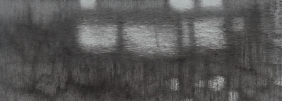 이채영, <섬>, 132*162cm, 한지에 먹, 2016