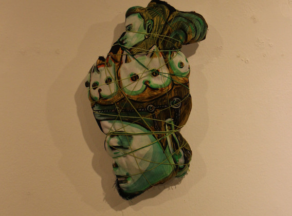 조각이 된 그림, Mixed media, Variable installation, 2020
