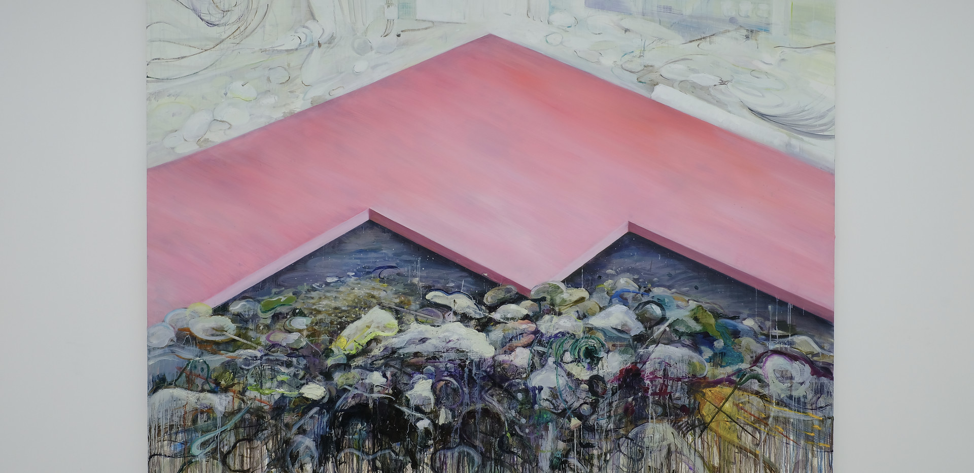 신준민, <Pink Mountain>, 181*227cm, oil on canvas, 2018