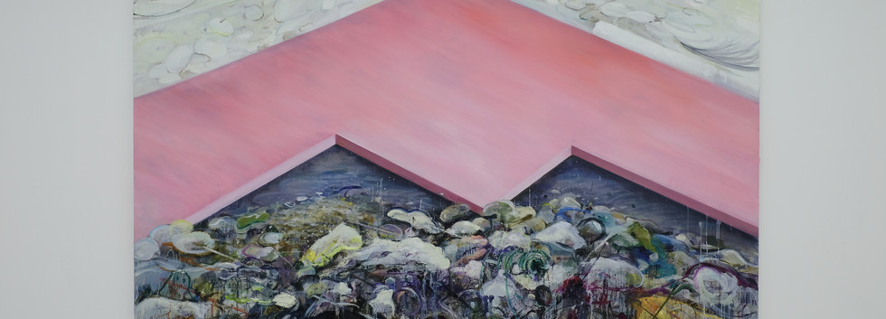 신준민, <Pink Mountain>, 181*227cm, oil on canvas, 2018