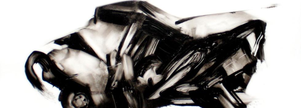 안민, <Conscience>, 43.0*35.0cm, oil on acrylic board, 2017