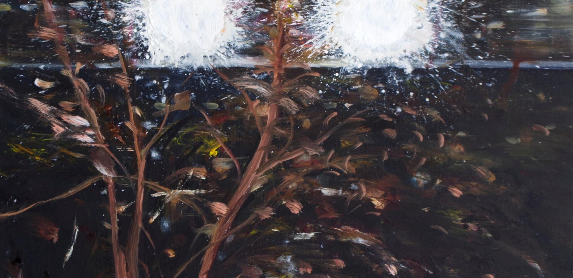 신준민, <빛나는 밤>, Oil on canvas, 53*45.5cm, 2020