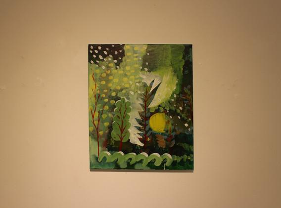 이민주, 시장에서의 귀가, Acrylic on canvas, 45.5x37.9cm, 2019