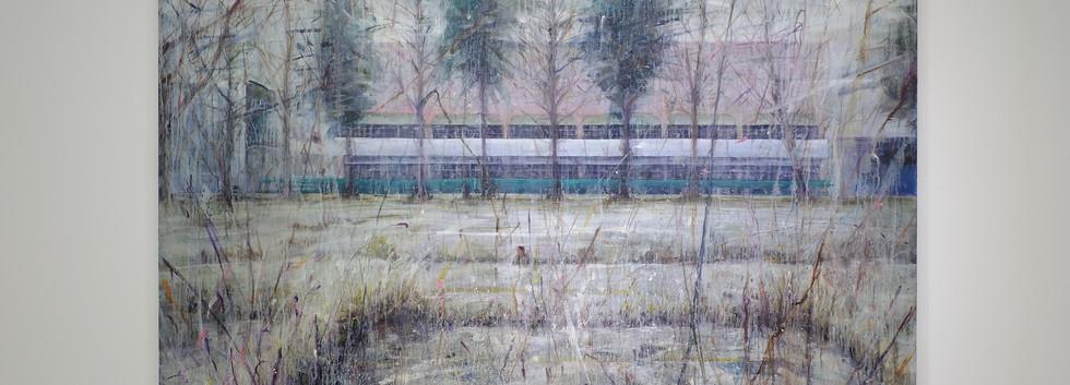 신준민, <White Wind>, 181*227cm, oil on canvas, 2018