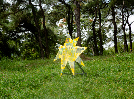신명준, Yellow Holiday, mixed media, 120.0x120.0cm(3ea), 2020