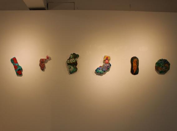 이민주, 조각이 된 그림, Mixed media, Variable installation, 2020