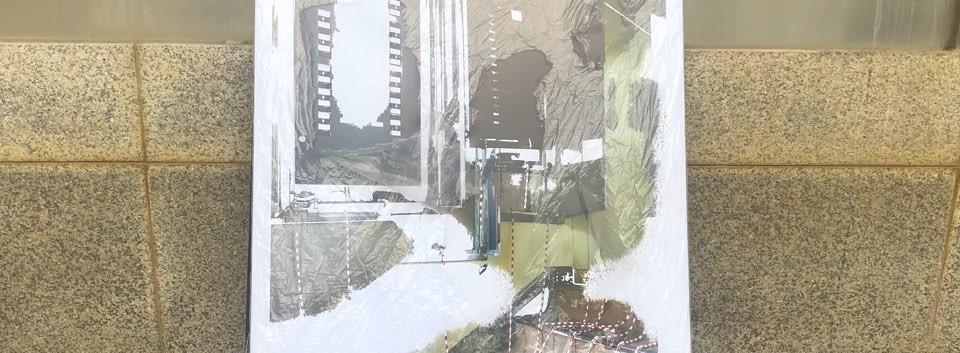 TheThe(노현지, 이수아), <콜라쥬>, 4ea, mixed media, variable installation, 2018