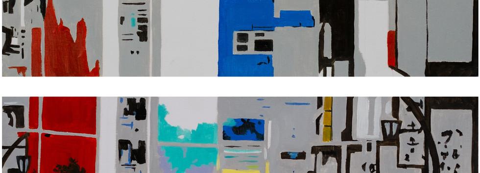김민주, <No.5>, 40*30cm (16ea), oil on canvas, 2019