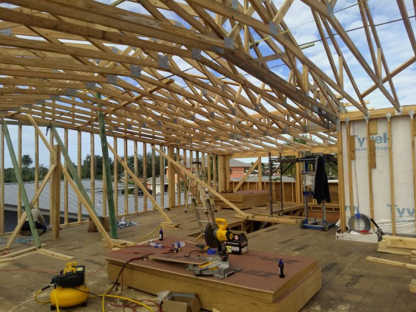 Roof Trusses Installation