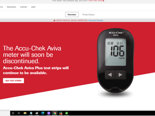 The Accu-Chek meter will be discontinued.