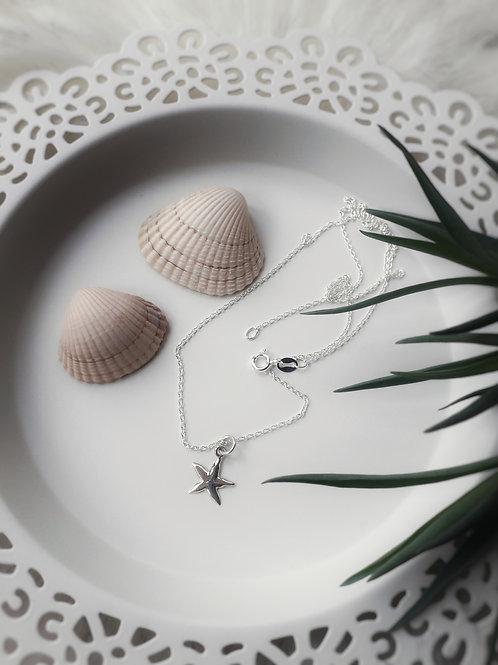 Bini Chohan - Sterling Silver Starfish Necklace