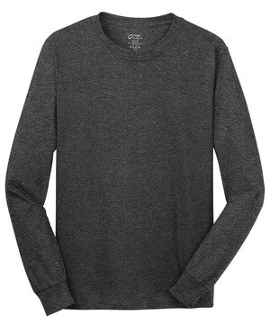 100% Cotton  Grey T-shirt Long Sleeve (LJ)