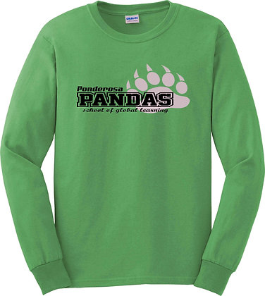 Long Sleeve Tee Panda Print