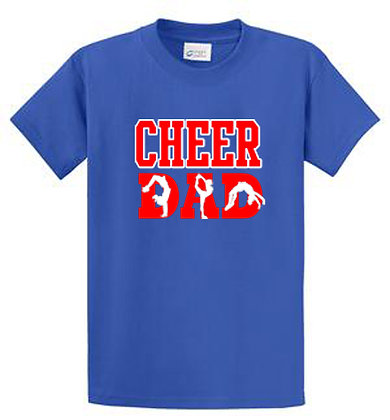 100% Cotton  T-shirt Cheer Dad Tumbling