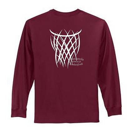 100% Cotton  T-shirt LS (MHS)