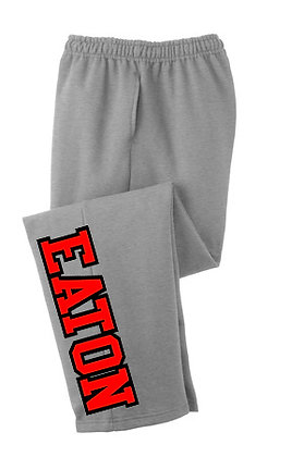 Grey Pocket Sweat Pants with open bottoms
