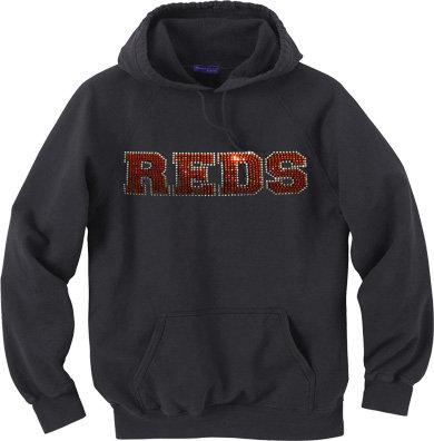 REDS   Rhinestone Hoodie