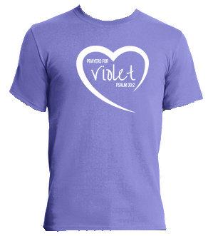 Violet  100% Cotton  T-shirt