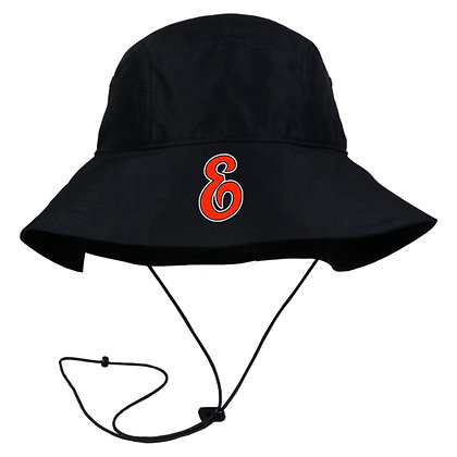 Black Bucket Hat with strap