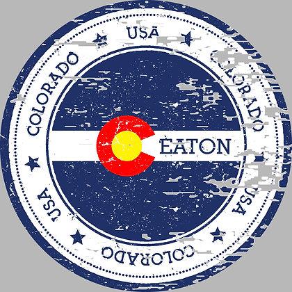 Eaton Colorado Distressed Grey Hoodie