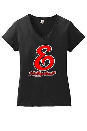 Ladies fit V-neck T-shirt