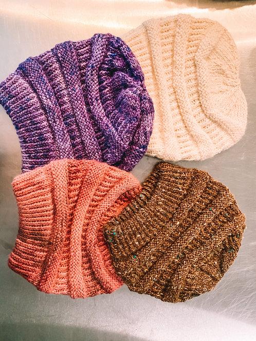 Hand-Knitted Alpaca Caps