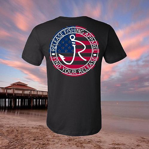 American Release Circle Black T-shirt