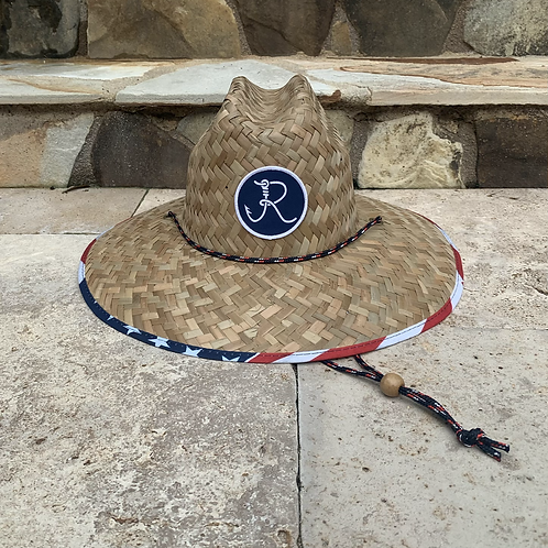 Fancy R Logo American Premium Straw Hat