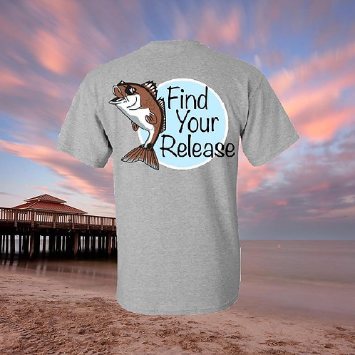 Redfish with Sunglasses Gray T-shirt