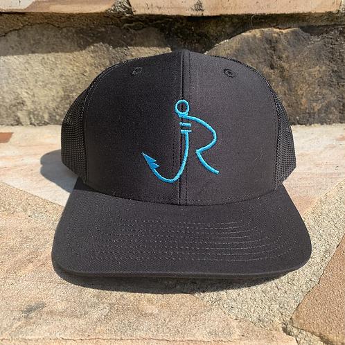 R logo Snapback Black/Blue